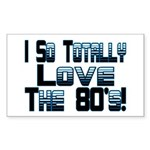 Love The 80's Rectangle Sticker 50 pk)