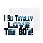 Love The 80's Greeting Cards (Pk of 10)