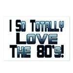 Love The 80's Postcards (Package of 8)