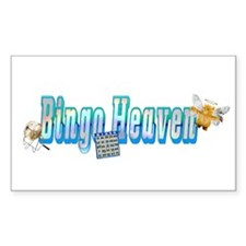 Bingo heaven Bumper Decal Rectangle Decal