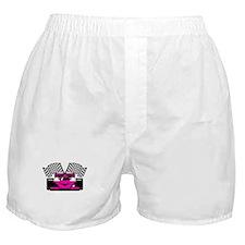 HOT PINK RACE CAR Boxer Shorts