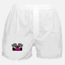 HOT PINK RACE CAR Boxer Shorts