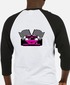HOT PINK RACE CAR Baseball Jersey