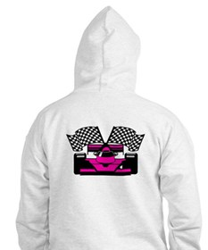HOT PINK RACE CAR Hoodie