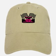 HOT PINK RACE CAR Baseball Baseball Cap