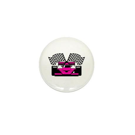 HOT PINK RACE CAR Mini Button (10 pack)