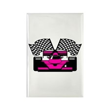 HOT PINK RACE CAR Rectangle Magnet