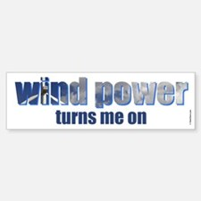 Wind Power Bumper Bumper Bumper Sticker