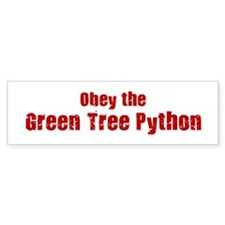 Obey the Green Tree Python Bumper Bumper Sticker