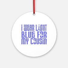 I Wear Light Blue 16 (Cousin) Ornament (Round)