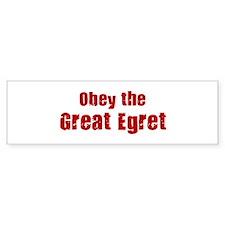 Obey the Great Egret Bumper Bumper Sticker