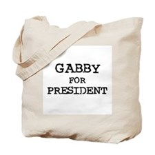 Gabby for President Tote Bag
