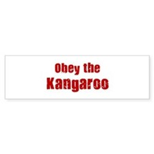 Obey the Kangaroo Bumper Bumper Sticker