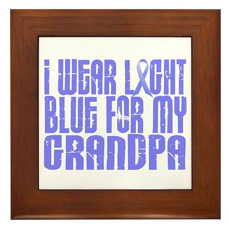 I Wear Light Blue 16 (Grandpa) Framed Tile