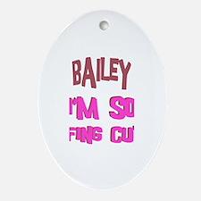 Bailey - So Effing Cute Oval Ornament