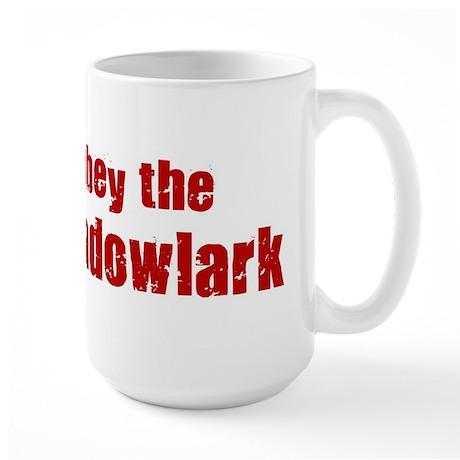 Obey the Meadowlark Large Mug