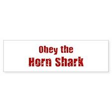 Obey the Horn Shark Bumper Bumper Sticker