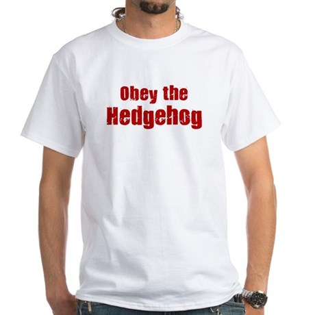 Obey the Hedgehog White T-Shirt