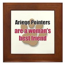 Ariege Pointers woman's best friend Framed Tile