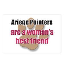 Ariege Pointers woman's best friend Postcards (Pac