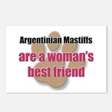 Argentinian Mastiffs woman's best friend Postcards
