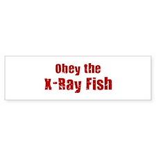 Obey the X-Ray Fish Bumper Bumper Sticker