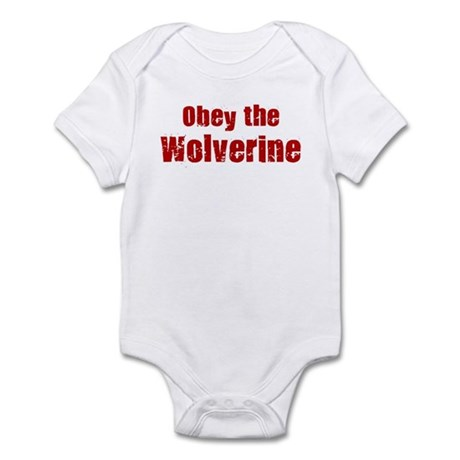 Obey the Wolverine Infant Bodysuit Baby Light Bodysuit