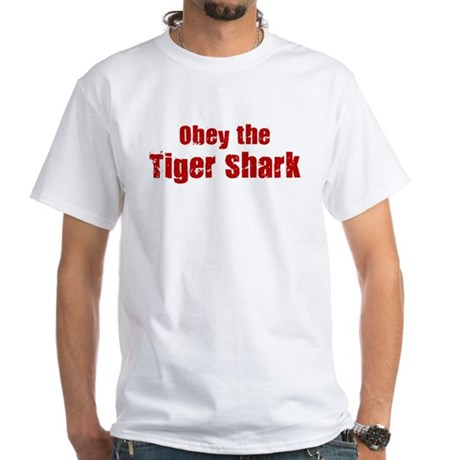 Obey the Tiger Shark White T-Shirt