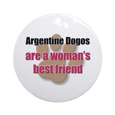 Argentine Dogos woman's best friend Ornament (Roun