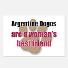 Argentine Dogos woman's best friend Postcards (Pac