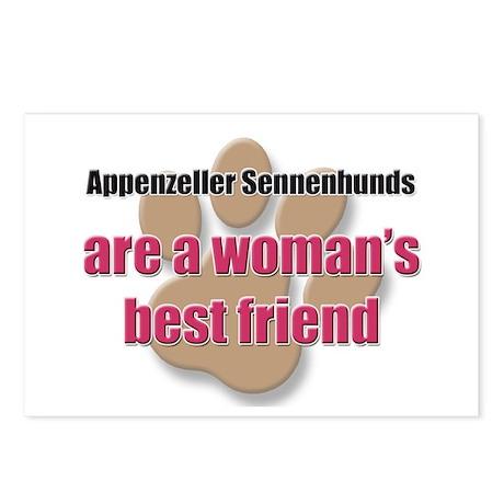 Appenzeller Sennenhunds woman's best friend Postca
