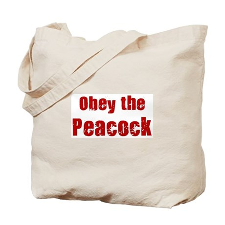 Obey the Peacock Tote Bag