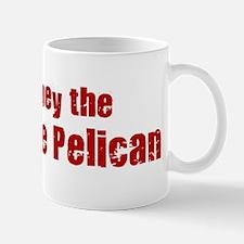 Obey the White Pelican Mug