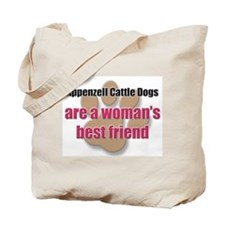 Appenzell Cattle Dogs woman's best friend Tote Bag