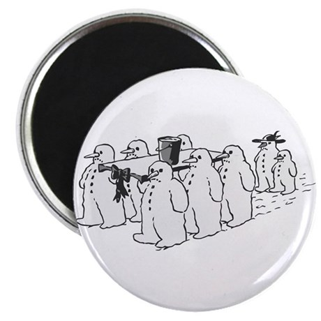 "Snowman Funeral 2.25"" Magnet (10 pack)"