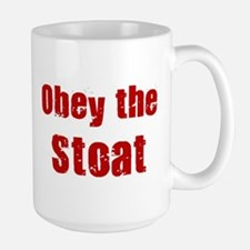 Obey the Stoat Large Mug
