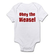 Obey the Weasel Infant Bodysuit
