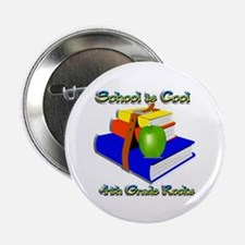 "School's Cool 4th Grade Rocks 2.25"" Button"