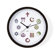 InterFaith/MultiFaith Pride Wall Clock