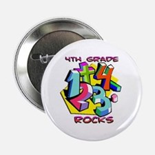 "Numbers 4th Grade 2.25"" Button"