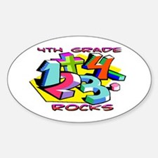 Numbers 4th Grade Oval Decal