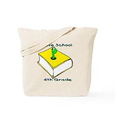 Bookworm 4th Grade Tote Bag