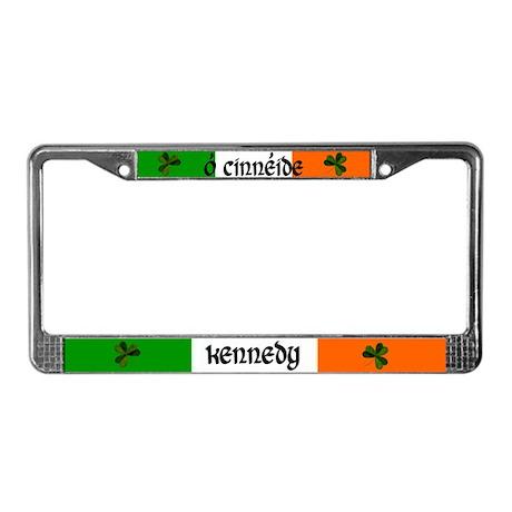 Kennedy in Irish & English License Plate Frame