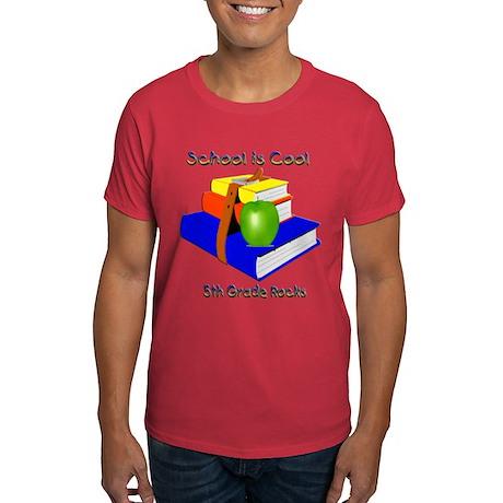 School's Cool 5th Grade Rocks Dark T-Shirt