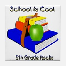 School's Cool 5th Grade Rocks Tile Coaster