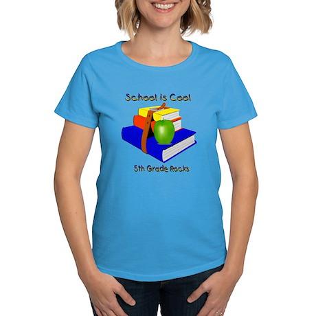 School's Cool 5th Grade Rocks Women's Dark T-Shirt