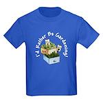 I'd Rather Be Gardening Kids Dark T-Shirt