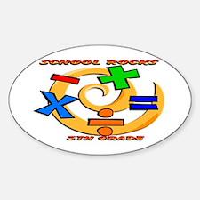 Math Symbols 5th Grade Oval Decal