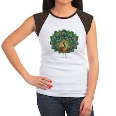 Peacock Women's Cap Sleeve T-Shirt