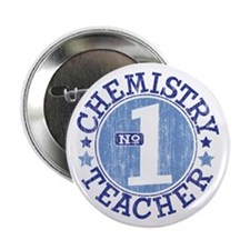 "#1 CHEMISTRY TEACHER (Blue) 2.25"" Button (10 pack)"